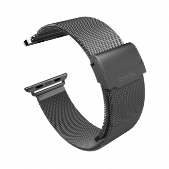 Ремешок для Apple Watch 42mm iBacks Double-buckle Stainless Steel Watchband Black