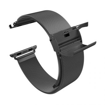 Ремешок для Apple Watch 42mm iBacks Double-buckle Stainless Steel Watchband Black 3
